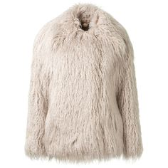 Stella Mccartney Fur Free Fur Coat (40.395 CZK) ❤ liked on Polyvore