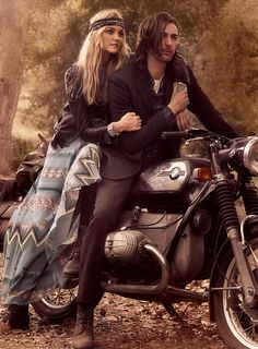 The Navajo-inspired print paired with the black leather jacket sings the song of the trail and the open road.