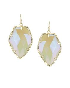 Corley Drop Earrings in Iridescent Agate - Kendra Scott Jewelry. Available October 16, 2013.