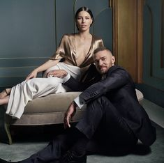 Jessica Biel and Justin Timberlake / Mark Seliger's Vanity Fair Oscar Party Portraits