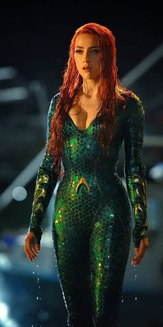 First look at Amber Heard as Mera on the set of Aquaman