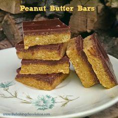 Peanut Butter Bars {No-Bake} – The Baking ChocolaTess
