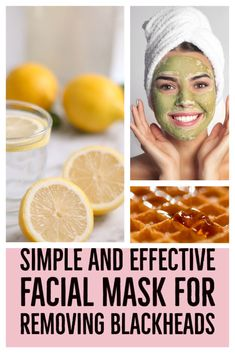 Get 4 super effective DIY recipes that help against blackheads, enlarged pores, pimples, and imperfections.