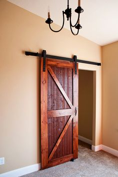 Barn door for bedroom closet door or a den with no door…using any type door...