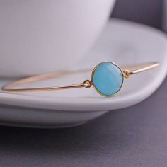 Gold Chalcedony Bracelet