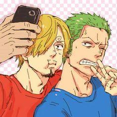 Zoro. Sanji.   Selfie ^^