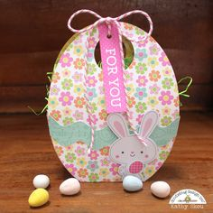 Hi Everyone! It's Kathy  today with a sweet shaker card and gift bag I created using the new Easter Express! Take a peek...        I star...