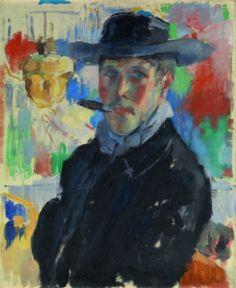 Rik Wouters - zelfportret met sigaar (1913)