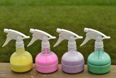 25 Fun Toddler Activities for Your Summer Bucket List: Make spray sidewalk chalk.