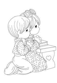 Precious Moments Pray Coloring Pages - Precious Moments Coloring Pages : KidsDrawing – Free Coloring Pages Online Animal Coloring Pages, Coloring Book Pages, Coloring Sheets, Embroidery Patterns, Hand Embroidery, Precious Moments Coloring Pages, Doodle Characters, Coloring Pages For Kids, Kids Coloring