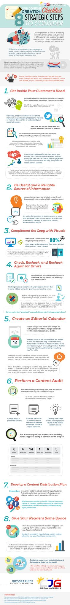 infographic: Content Creation Checklist – 8 Strategic Steps to Consider