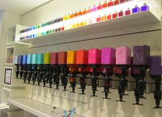 the ink bar for mixing custom fountain pen inks at Georges & Co papeterie, Left Bank of Paris