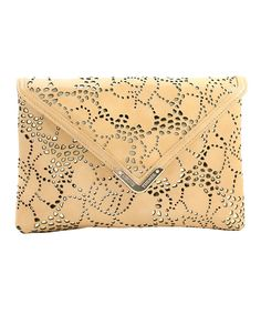 Take a look at this Nude Patent Leather Bella Fold-Over Clutch on zulily today!