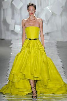 Yellow dress by Jason Wu, Spring 2012