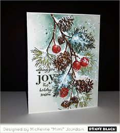 Happy Holidays from Penny Black Cas Christmas Cards, Painted Christmas Cards, Create Christmas Cards, Watercolor Christmas Cards, Christmas Paper Crafts, Christmas Drawing, Watercolor Cards, Holiday Cards, Happy Holidays Cards