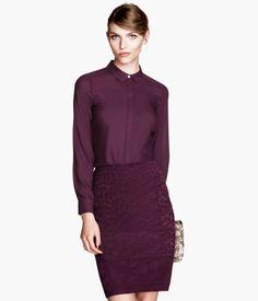 $24.95 :: Burgundy Chiffon Blouse | H&M US