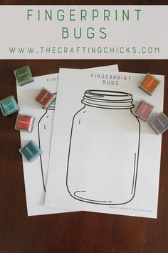 Fingerprint Bugs - what a fun activity to do with the kids this summer!