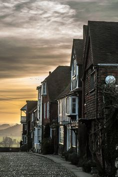 Rye at dusk, Sussex, an enchanting town once visited by Queen Elizabeth I and where the writer Henry James was once the mayor!