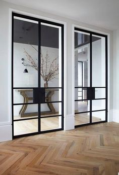 While a glass door competes tightly in a home décor realm, here's how to choose the right glass door design that'll fit your house. Australian Interior Design, Interior Design Awards, Interior Decorating, Interior Architecture, Interior And Exterior, Internal Doors, Steel Doors, Windows And Doors, Steel Windows