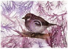 Art Print of my original illustration  Sparrow by PetsandAnimals, $19.50