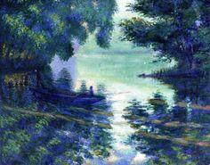 The Seine near Giverny by Theodore Earl Butler #art #arte #artwork #seine #impressionism #TheodoreEarlButler #painting