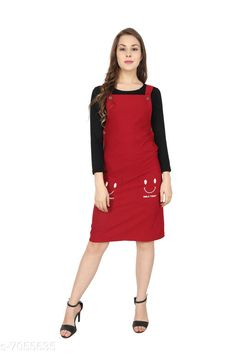 Dresses Urbane Ravishing Pinafore Dresses Fabric: Cotton Lycra Sleeve Length: Three-Quarter Sleeves Pattern: Solid Multipack: 1 Sizes: S (Bust Size: 34 in Length Size: 34 in)  M (Bust Size: 36 in Length Size: 34 in)  L (Bust Size: 38 in Length Size: 34 in) Country of Origin: India Sizes Available: S, M, L   Catalog Rating: ★4.1 (434)  Catalog Name: Urbane Ravishing Pinafore Dresses CatalogID_1125758 C79-SC1025 Code: 405-7055635-5031