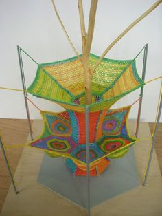 Hand-Knitted Playgrounds by Toshiko Horiuchi MacAdam   { http://fourlittlethiiiings.blogspot.com }: