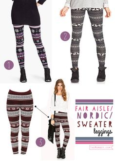 New fall obsession: Nordic sweater leggings for fall/winter | TheMombot.com