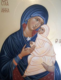 Saint Anna with her child Mary, painted by Maria Teresa Battilana Religious Images, Religious Icons, Madonna, Bible Images, Jesus Christ Images, Santa Ana, St Anne, Byzantine Icons, Art Icon