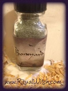 Boneyard Powder is also a rare and exotic blend of 9 graveyard dirts, traditional herbs, powdered human bone and organic oils designed for use when doing works with the Dead. This beautiful bottle can also be reused to hold graveyard dirt, powders and spells.