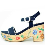 Flower Straw Sandals /PS3383/RANDA