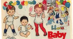 BABY TOGS 11-4-1982 Newspaper Paper Doll >< 1 of 2