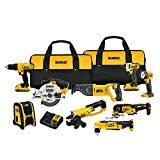 DEWALT MAX Lithium Ion Combo Kit at Products Lists of Tools and Hardware - the dewalt max lithium ion 9 tool combo kit contains all the tools you need for any all projects the max lithium ion 1 2 compact drill driver delivers 300 unit watts out uw Cordless Drill Reviews, Cordless Tools, Power Tool Set, Garage Atelier, Dewalt Power Tools, Class A Rv, Oscillating Tool, Angle Drill, Thing 1