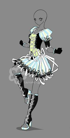 lolita Fantasy Design - sold by Nahemii-san on DeviantArt - lolita Fantasy Design – for sale by Nahemii-san. Anime Art, Manga Anime, Anime Dress, Illustration Mode, Drawing Clothes, Anime Outfits, Character Outfits, Fashion Sketches, Costume Design