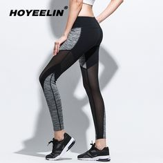 Find More Yoga Pants Information about HoYeeLin Summer Sexy Mesh Patchwork Sports Leggings Women Fitness Clothing Gym Sportswear Running High Waist Yoga Pants Tights,High Quality Yoga Pants from HoYeeLin Official Store on Aliexpress.com Women's Sports Leggings, Women's Leggings, Tights, Womens Workout Outfits, Sports Women, Yoga Pants, Sportswear, Fitness Clothing, Official Store