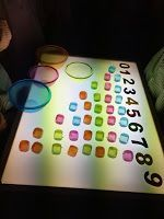 la clase de mar y sus proyectos                                                                                                                                                                                 Más Light And Shadow, Light Up, Sensory Lights, Licht Box, Light Board, Sensory Table, Classroom Projects, Math Numbers, Sensory Activities