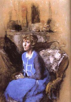 The Woman painting by Edouard Vuillard