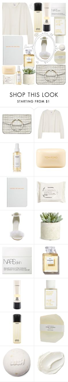 """""""MEZZANOTTE BAGS contest"""" by m-olla ❤ liked on Polyvore featuring Iris & Ink, Ouai, Tom Ford, Archie Grand, H&M, Allstate Floral, NARS Cosmetics, Chanel, MAC Cosmetics and Korres"""