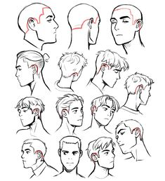 Manga Drawing Tips Drawing Base, Guy Drawing, Manga Drawing, Drawing People, Drawing Tips, Gesture Drawing, Drawing Male Hair, Short Hair Drawing, Drawing Poses Male