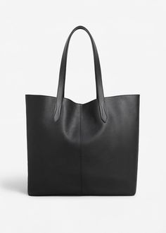 Sac shopper cuir | MANGO