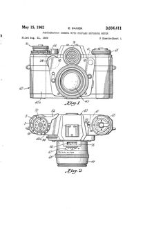 Patent US3034411 - Photographic camera with coupled exposure meter - Google Patents