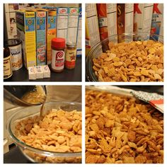 Susie's Chex Party Mix   Save Print The ultimate party mix!! Use any combo of Chex/Crispix you like and/or leave out the Cheerios and sub...