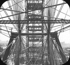 -- A view from the world's first Ferris Wheel, which opened at the Worlds Columbian Exposition in Chicago in 1893. (photo: Brooklyn Museum Archives, Goodyear Archival Collection)