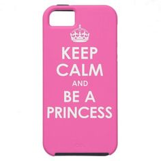 Hot Pink Keep Calm & Be a Princess iPhone 5 Case  Click on photo to purchase. Check out all current coupon offers and save! http://www.zazzle.com/coupons?rf=238785193994622463&tc=pin