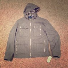 Men's medium international concepts jacket medium Men's medium international concepts jacket medium outside is wool inside polyester brand new with tags INC International Concepts Jackets & Coats