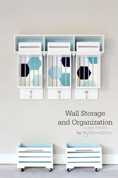 Crates And Pallet Wall Storage and Organization
