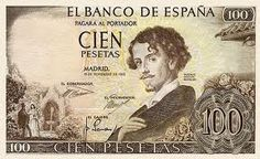Gustavo Adolfo Bécquer. 100 pesetas. 1965