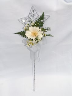 silver star flower girl wand with germini flower attached Wedding Wands, Wedding Bouquets, Wedding Dress, Flower Girl Wand, Flower Girls, Floral Wedding, Wedding Colors, Wedding Flowers, Wedding Reception Program