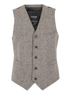 Grey Donegal Waistcoat $80.00