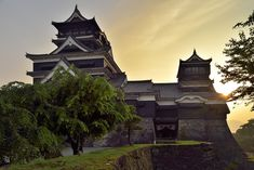 Kumamoto Castle   夕景の熊本城天守閣